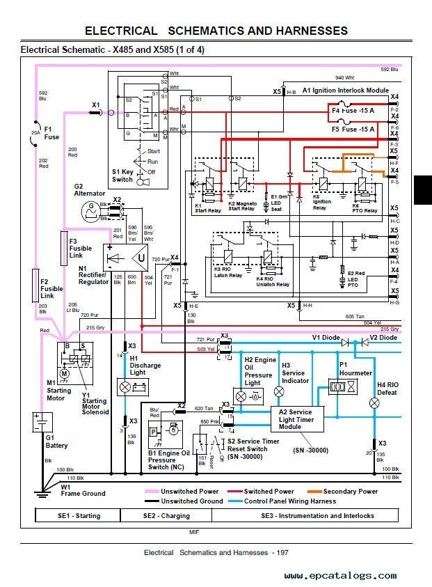 john deere x475 wiring diagram wiring diagram