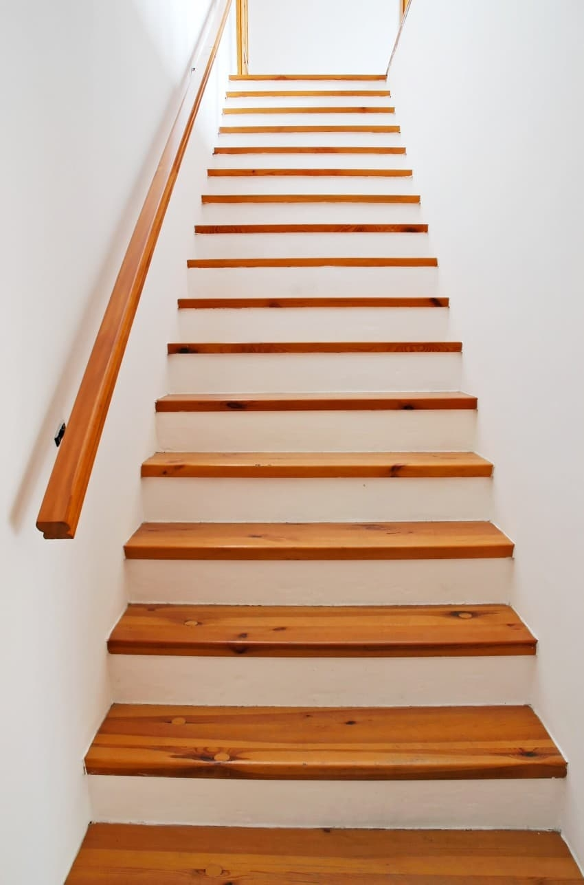 25 Custom Wood Stairs And Railings Photo Gallery   Wood And Concrete Stairs   House   Internal   Glass   Small Space   Pinterest