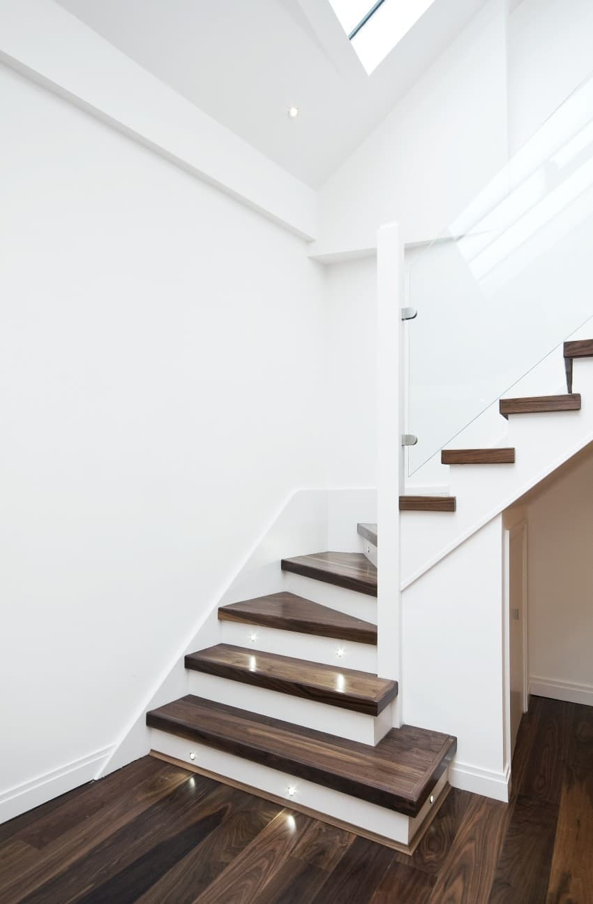 25 Custom Wood Stairs And Railings Photo Gallery | Staircase Railing Designs For Your Home | Contemporary | Extraordinary | Country Home Interior | Eye Catching | Covered