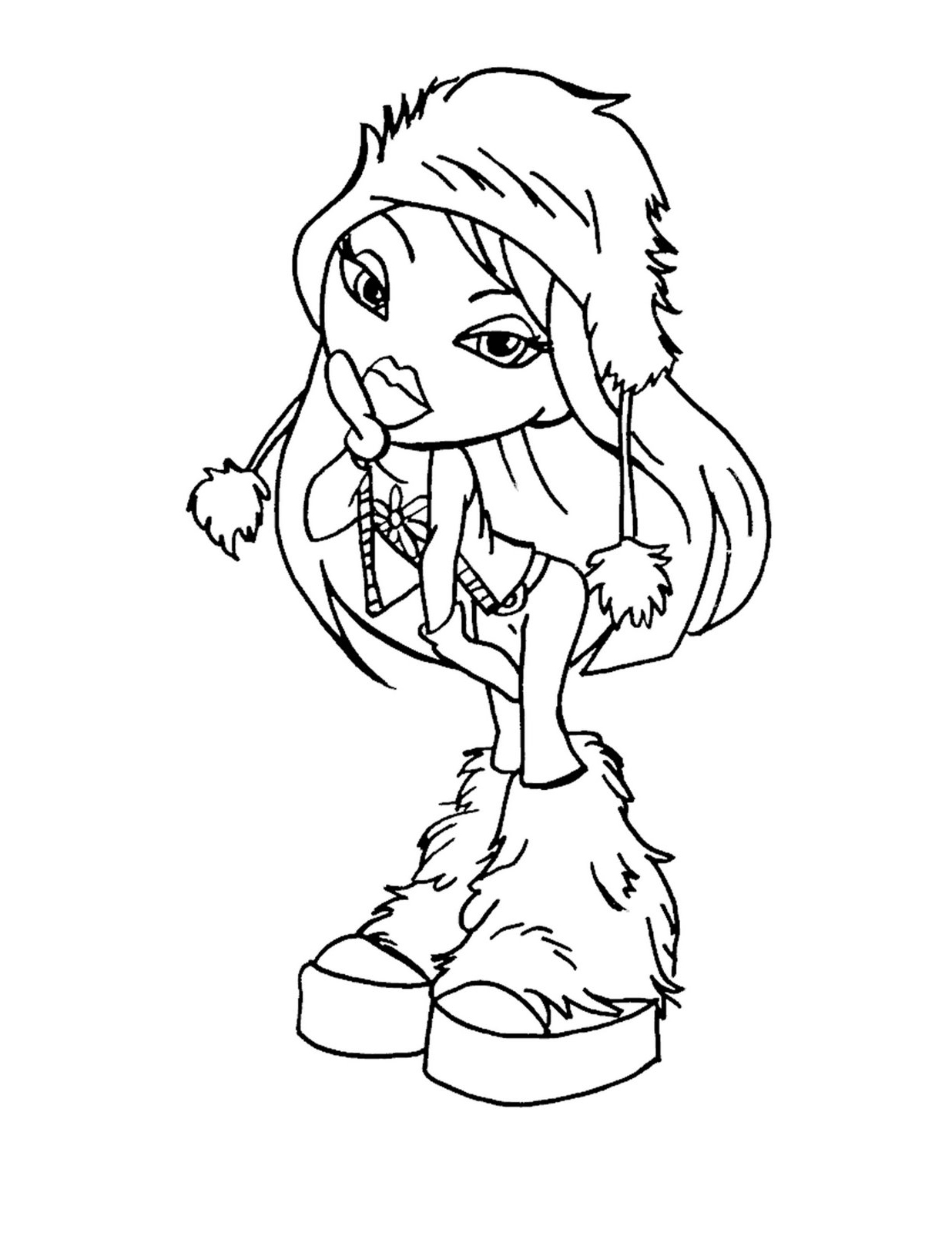 Winter Season Bratz Printables Coloring Pages Free Printable