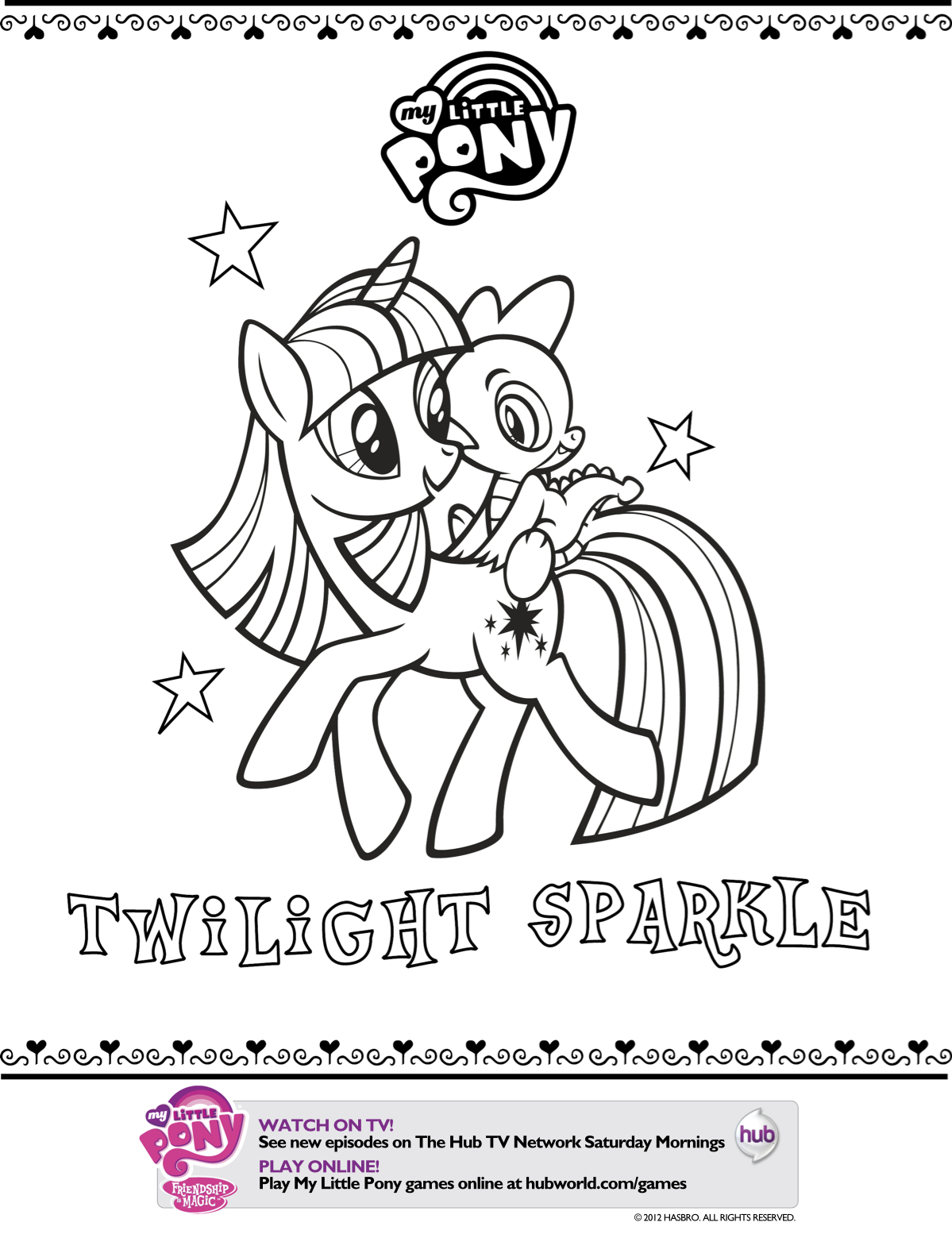 My Little Pony Coloring Pages Spike