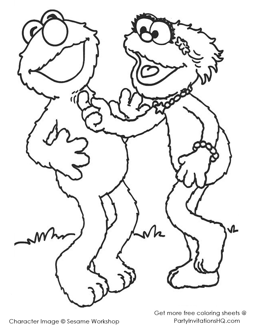 Funny Elmo Coloring Pages Free Printable Coloring Pages For Kids