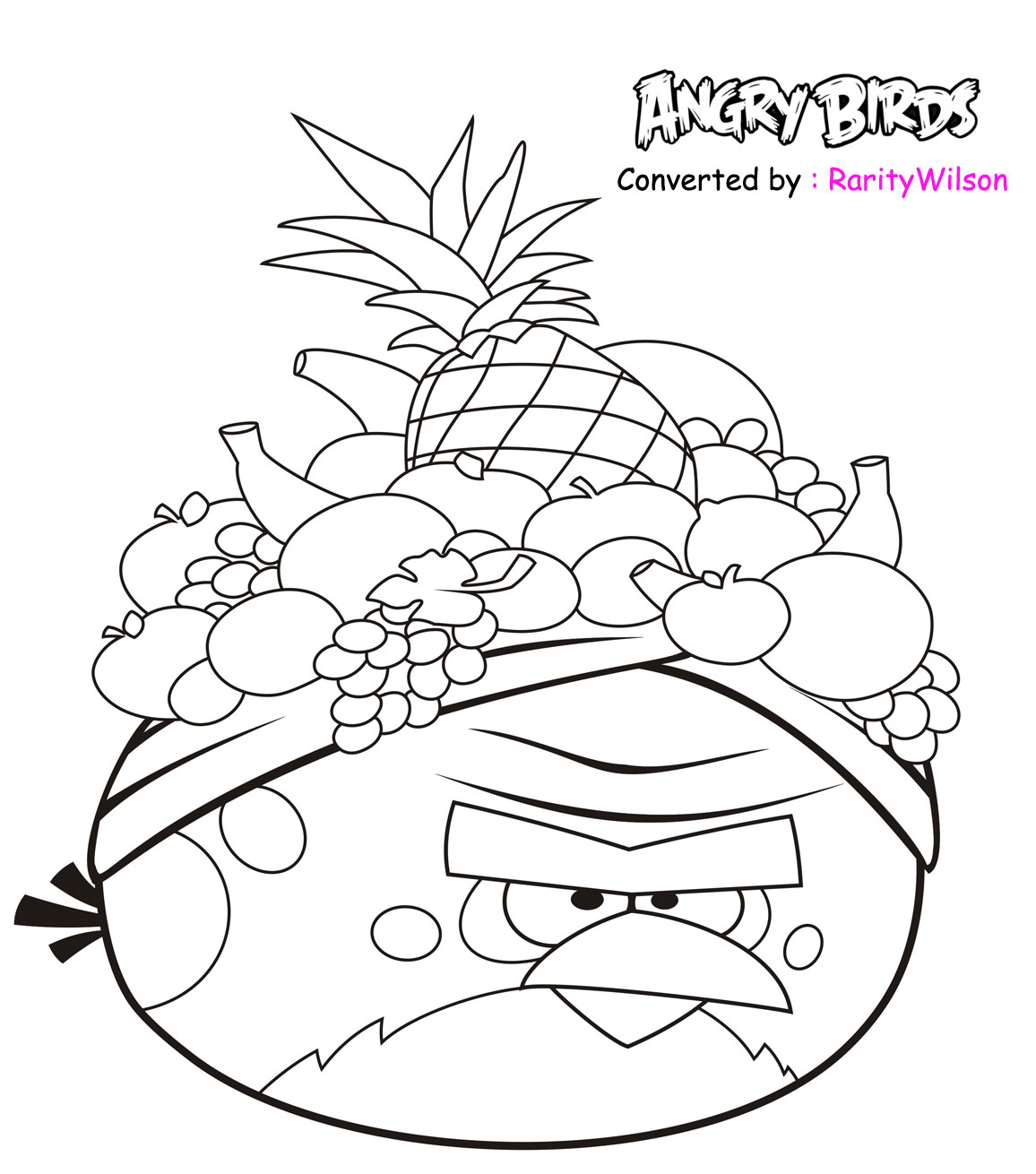 Angry Birds Rio Colouring Pictures Coloring Page