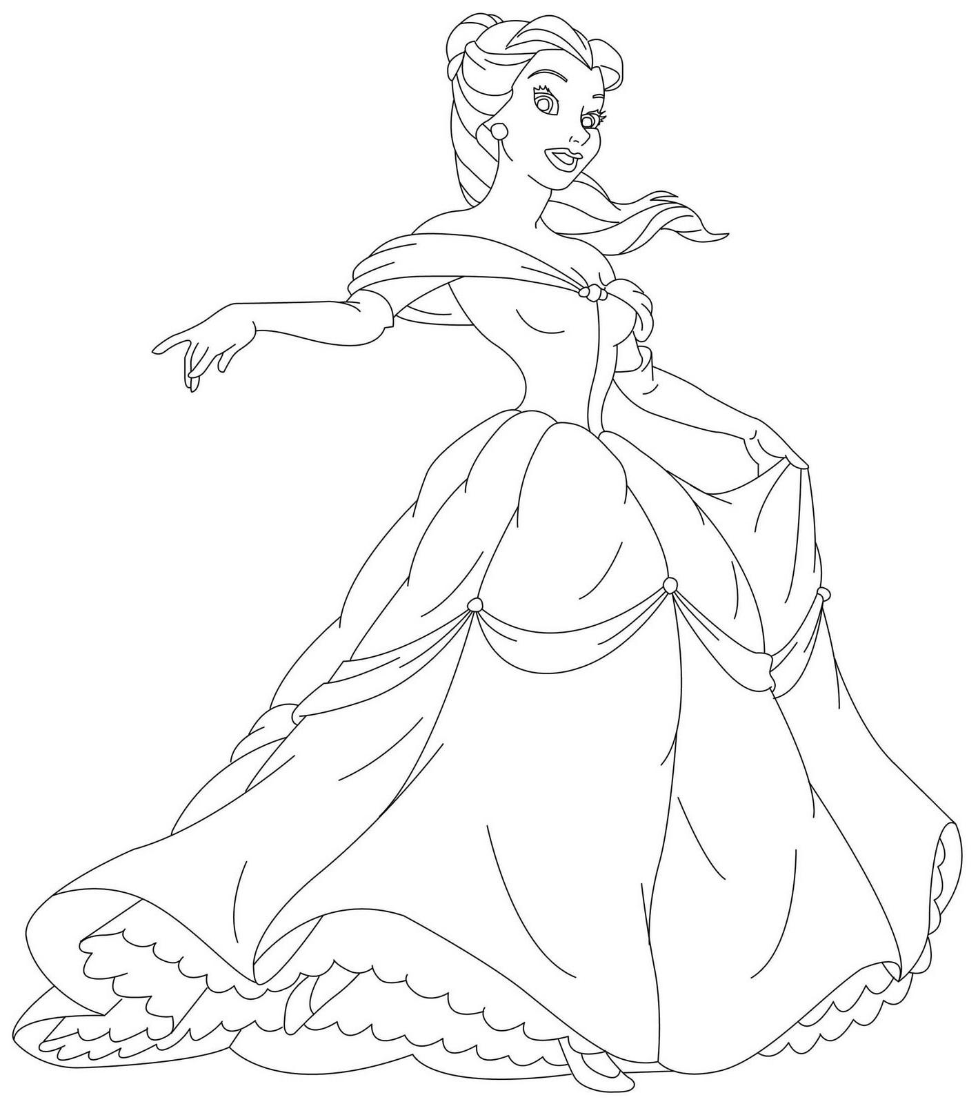 Disney Coloring Pages Princess 3 Free Printable Coloring
