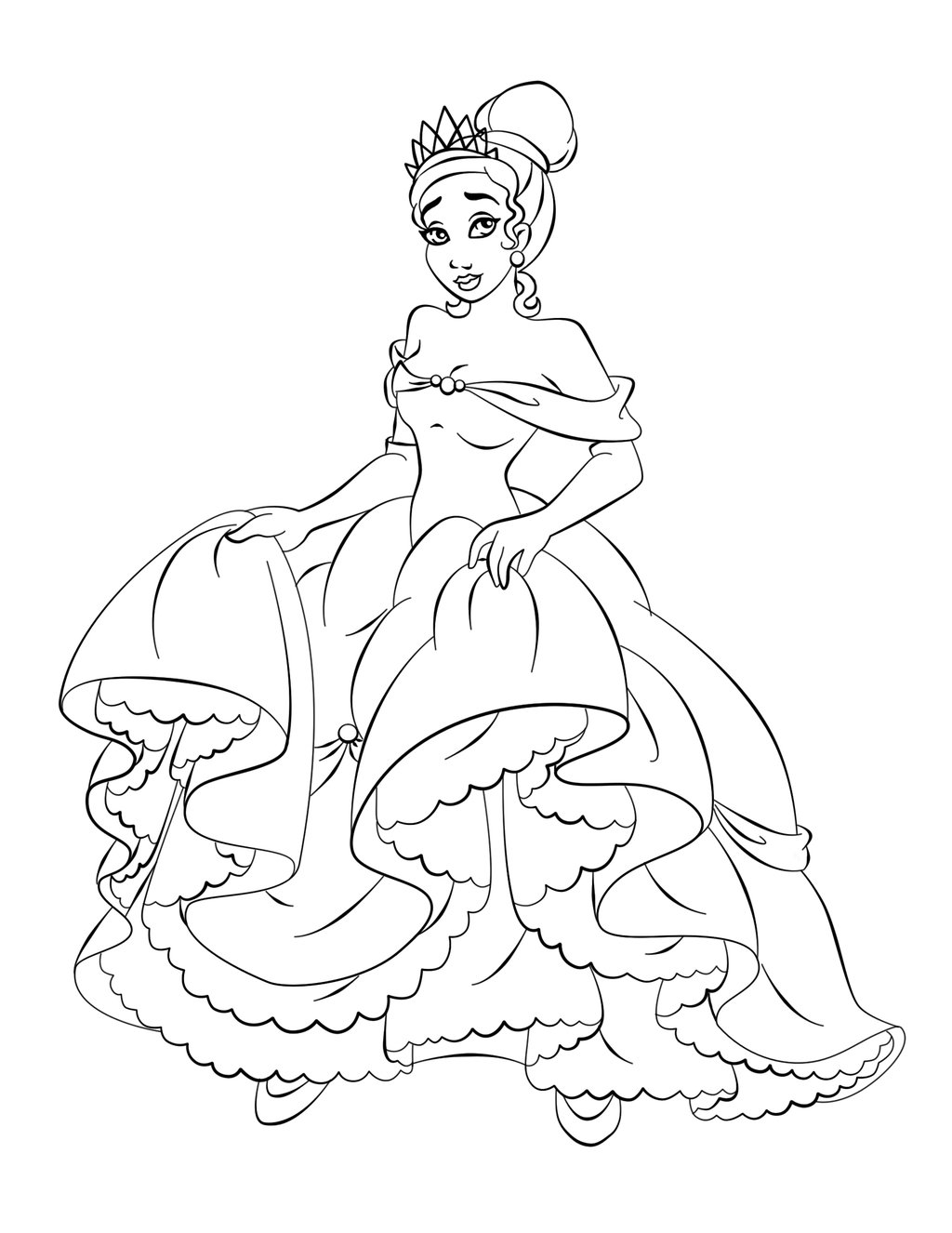 Disney Princess Coloring Pages 12 Free Printable Coloring Pages