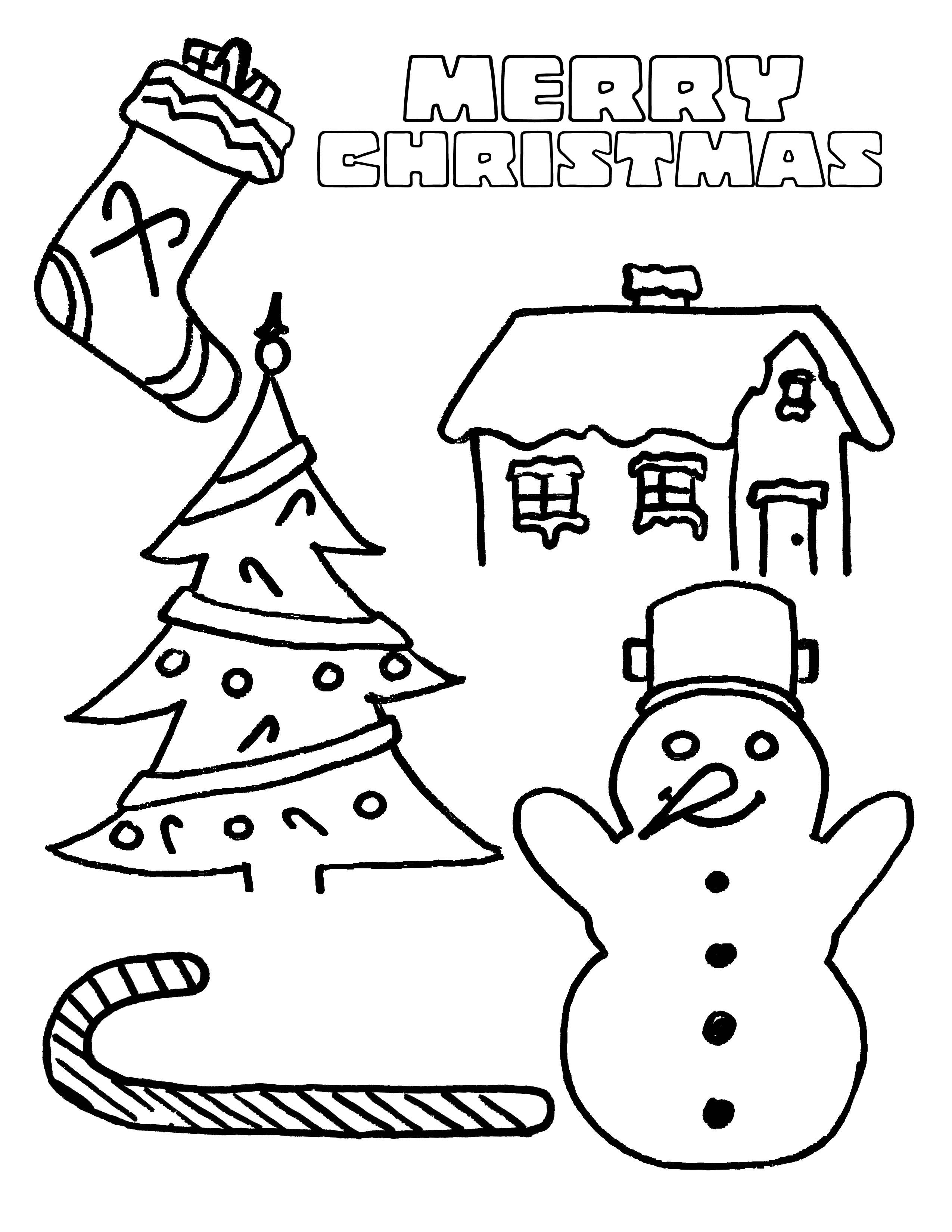 Free Kindergarten Christmas Coloring Sheets Coloring Page