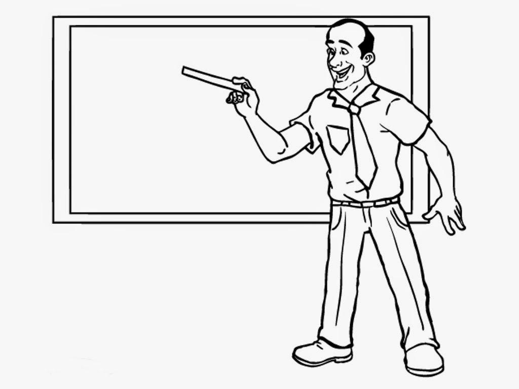 Teacher Coloring Online Pre School