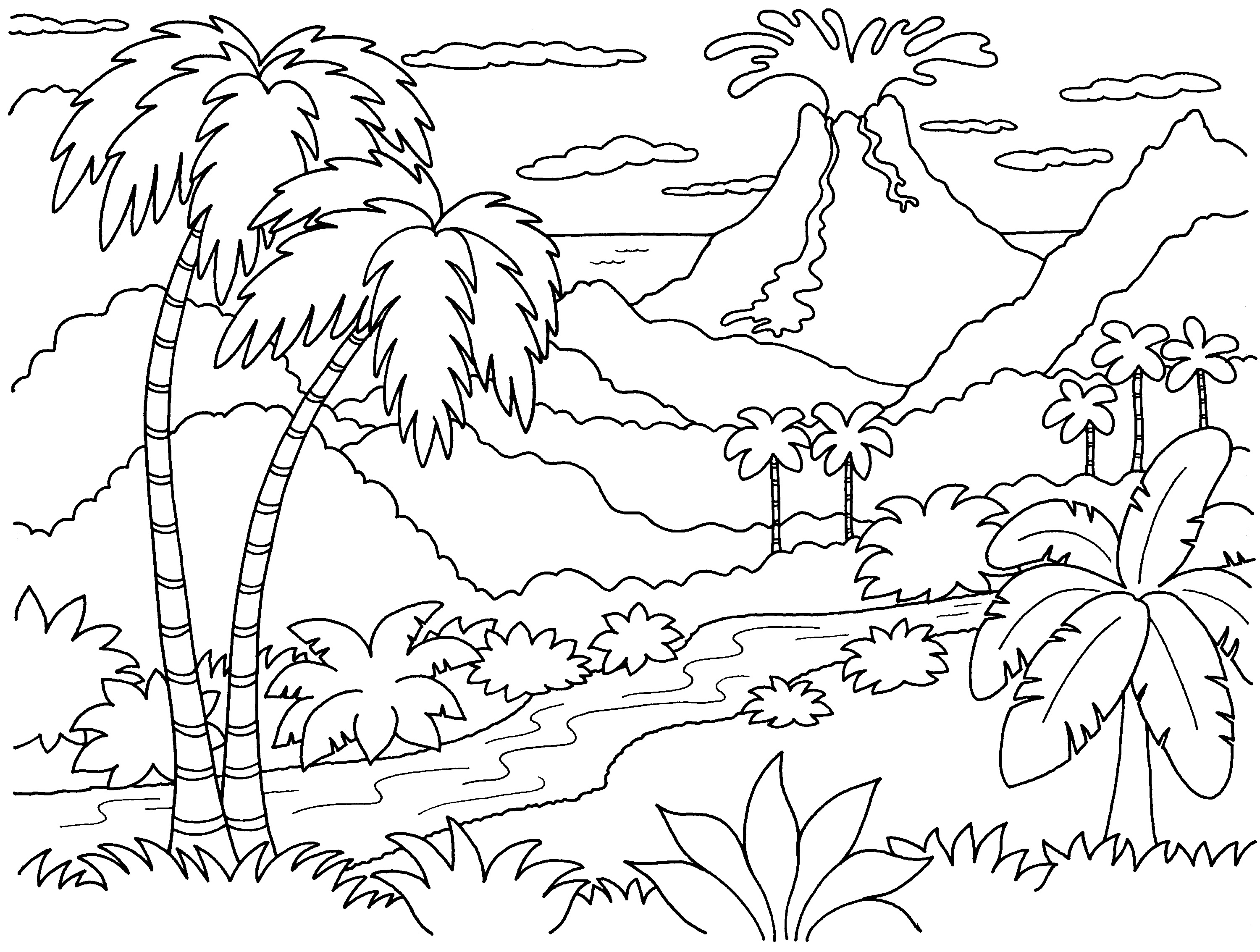 Island Coloring Pages Print Coloring Pages