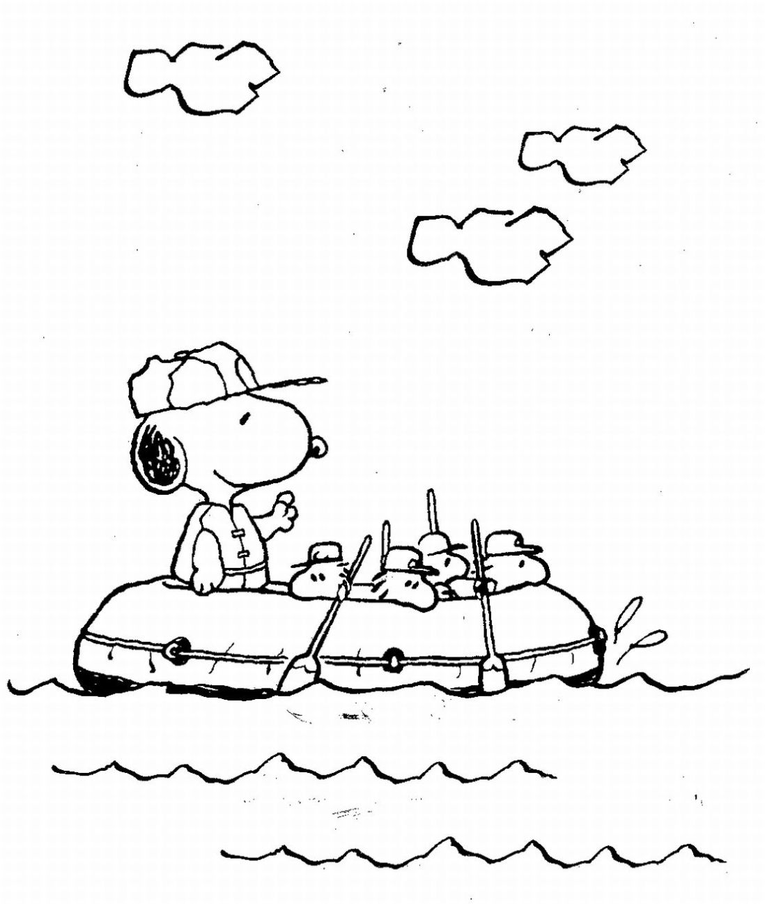 Boat Snoopy Coloring Pages For Kids Free Printable Coloring Pages