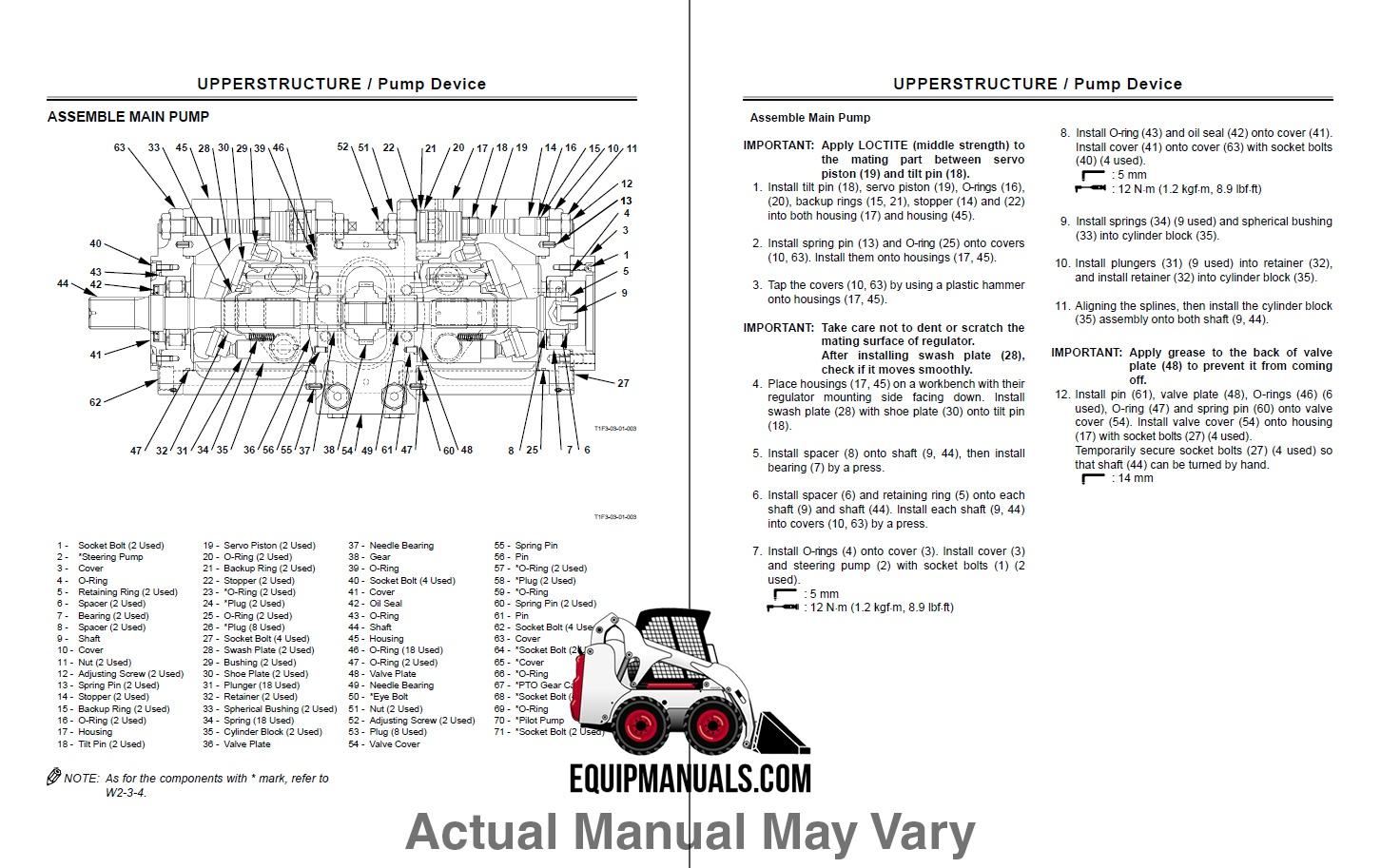 Fiat Allis FT110 Tractor Loader Backhoe Service Manual