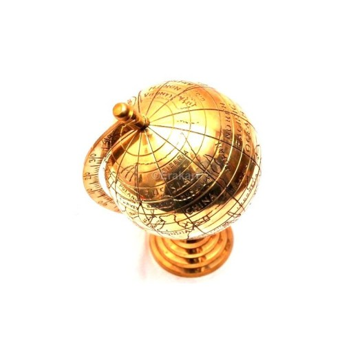 Buy Vintage Brass Antique World Map Globe online sale at erakart store Vintage Brass Antique Style World Map Globe
