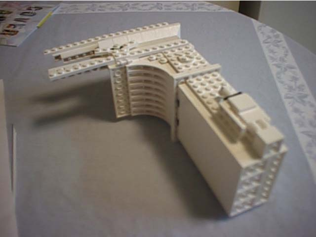 New York University    LEGO Half of the arch in early stages of construction