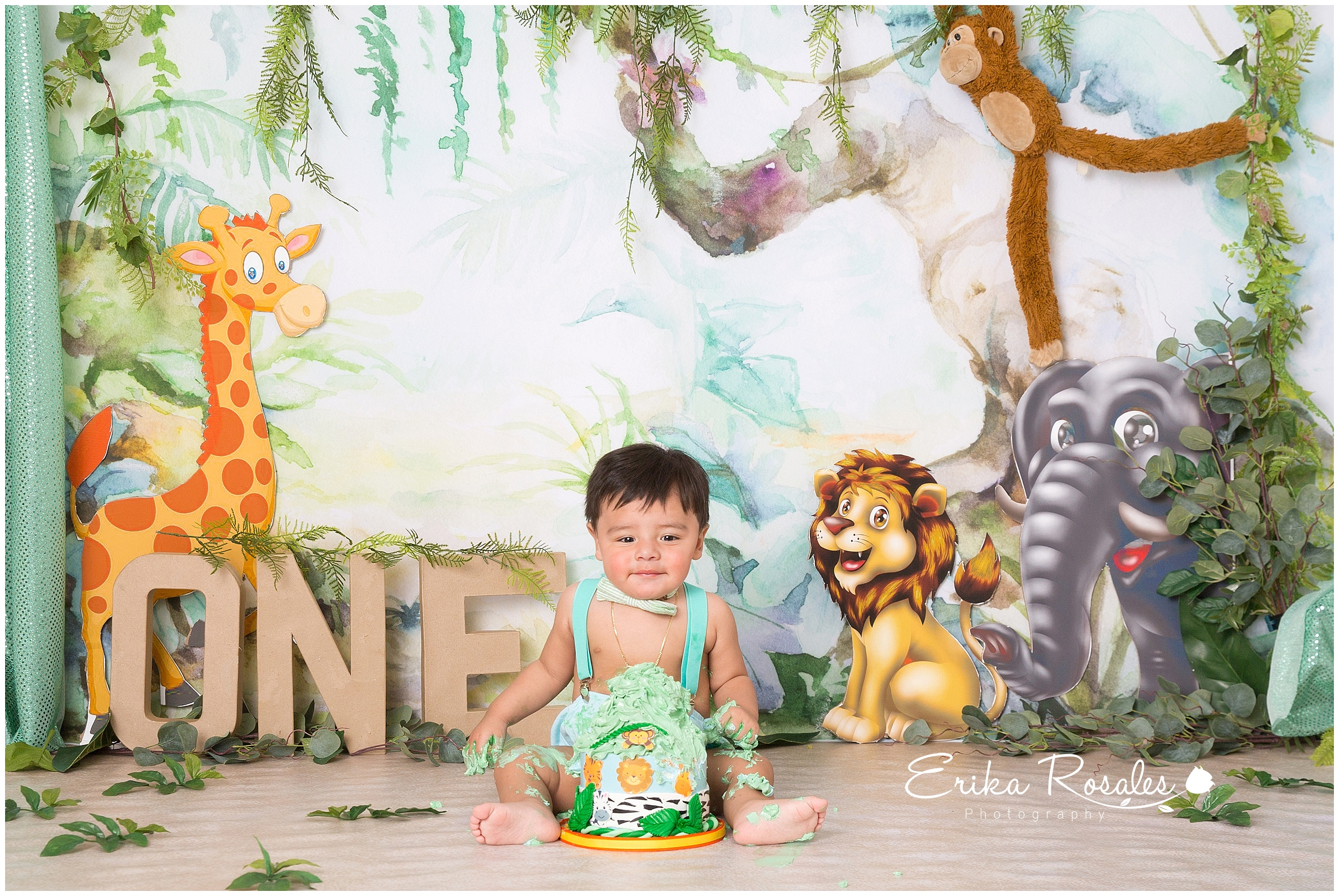 Jungle Safari Smash Cake Baby Photographer The Bronx