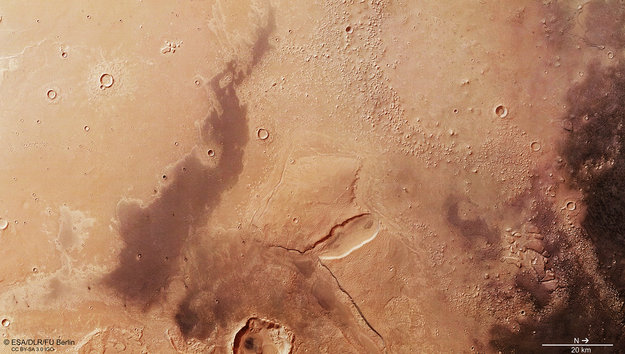 Crossing The Boundary From High To Low On Mars Mars