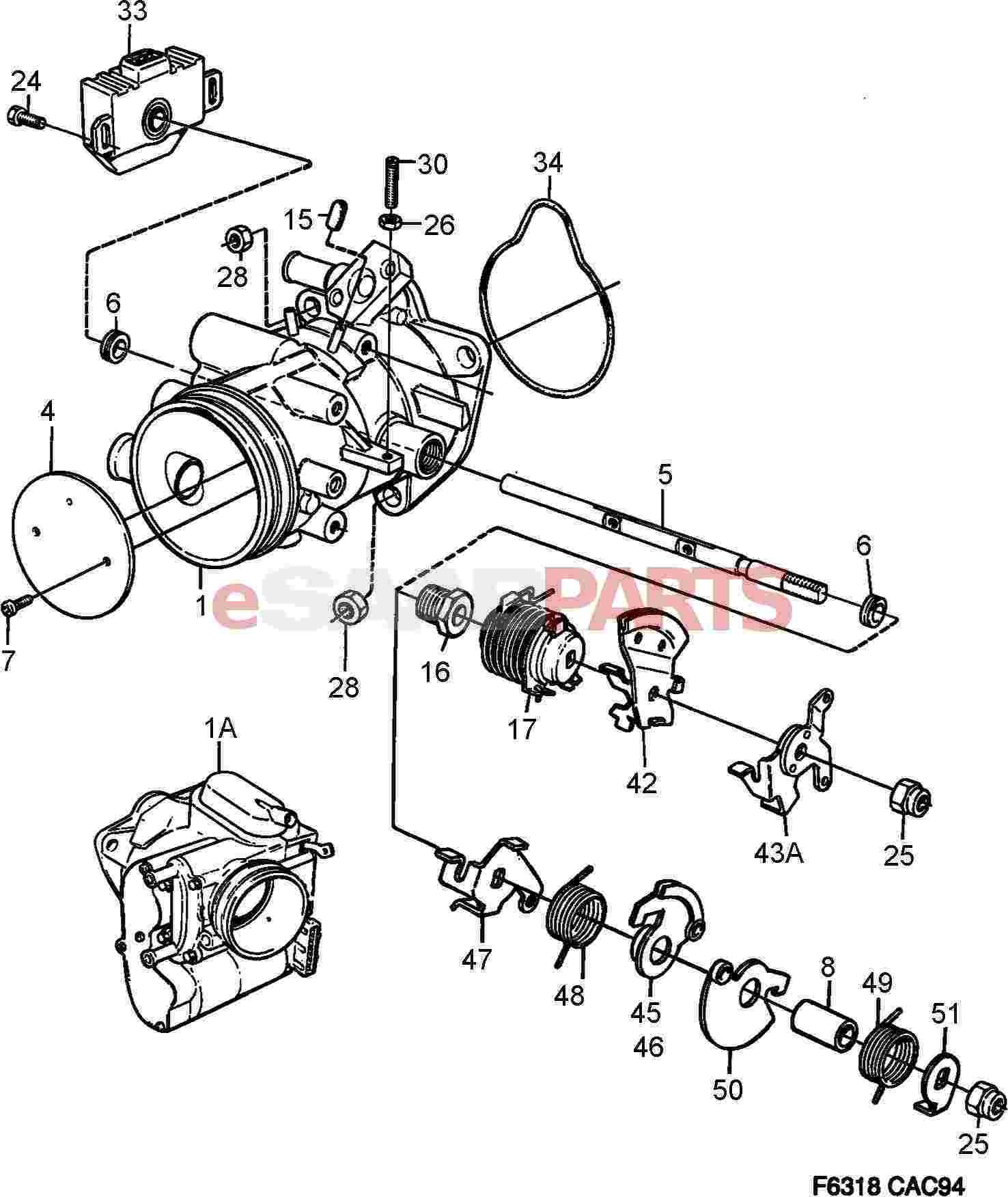 Saab 900 ignition switch wiring diagram