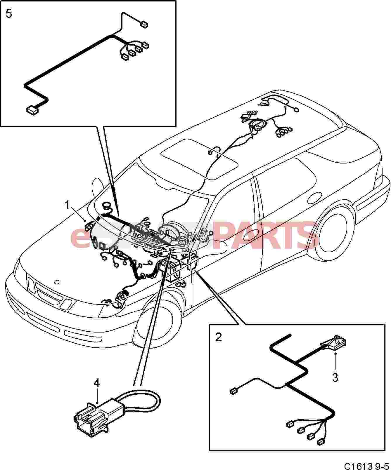 Wiring harness instrument panel