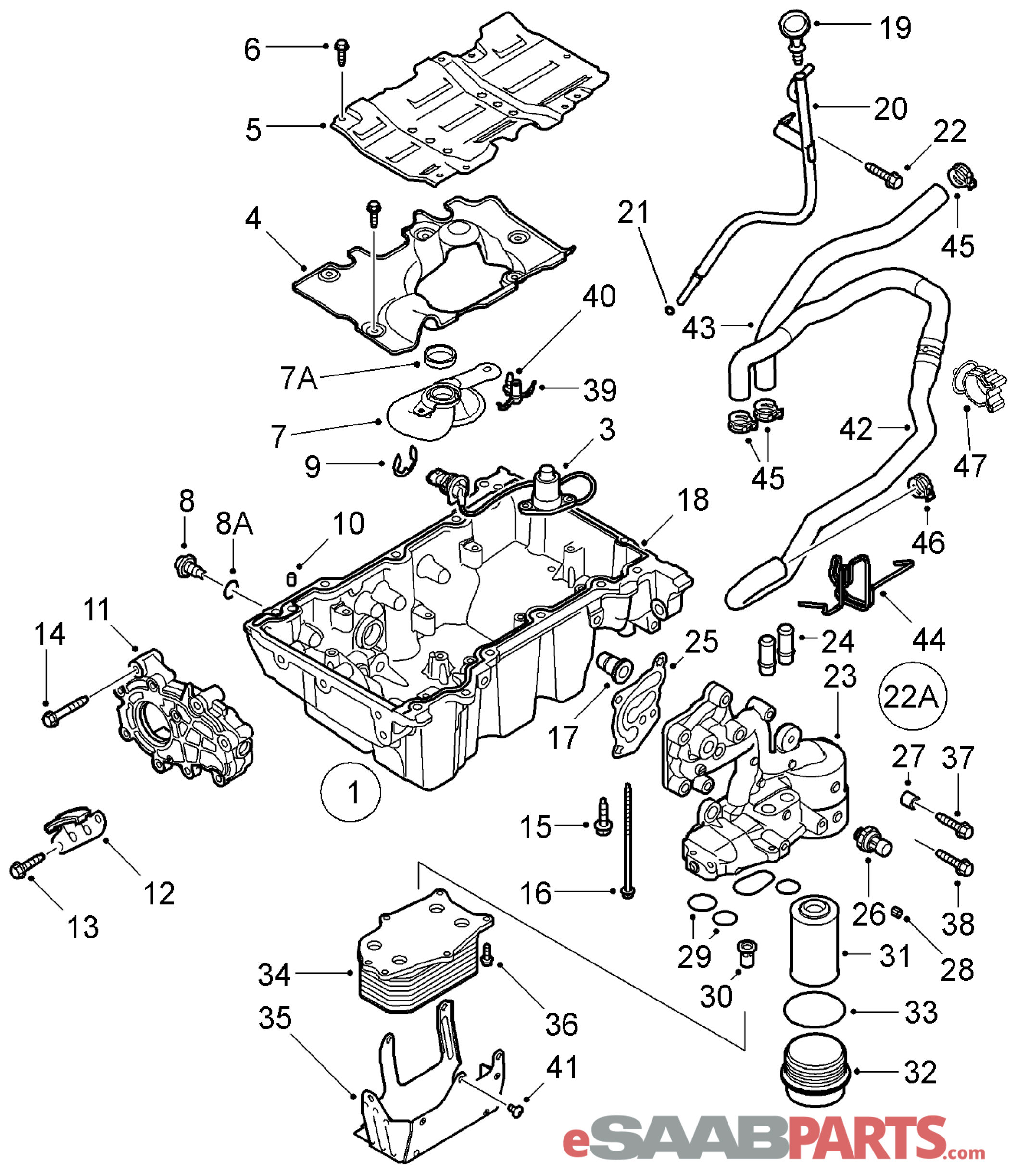 11562588 saab oil drain plug genuine saab parts from esaabparts rh esaabparts oil well casing diagram oil change diagram