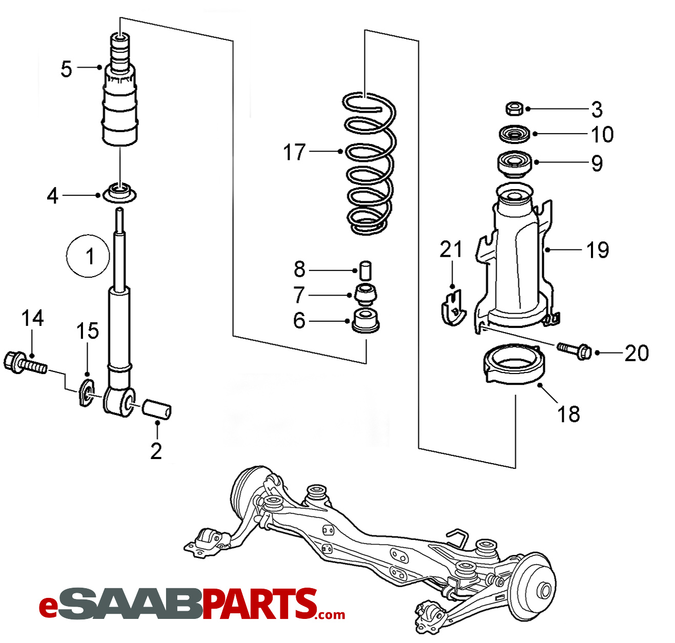 2000 Saab 9 3 Engine Diagram