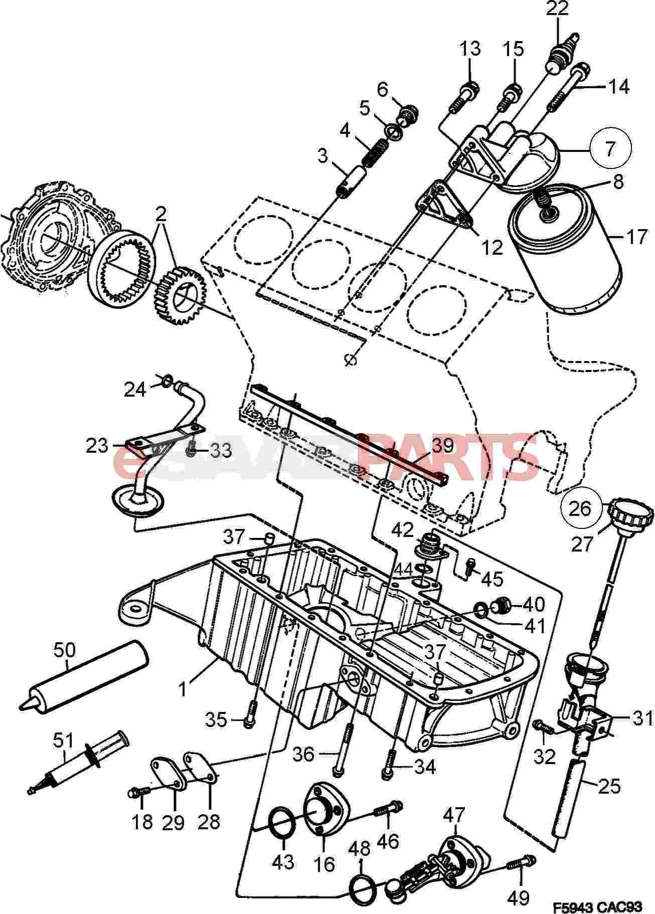 93165267 saab sealing pound genuine saab parts from esaabparts rh esaabparts oil change diagram oil film