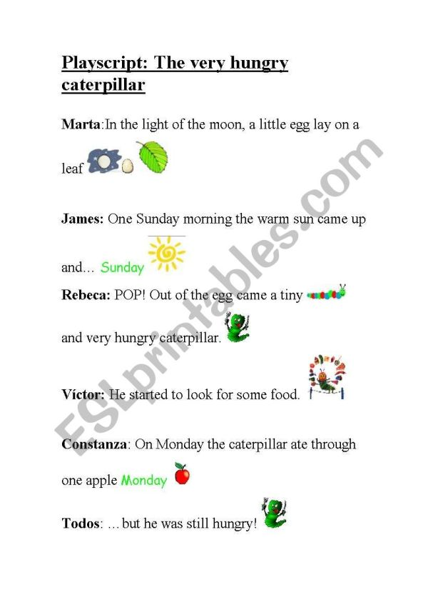 the very hungry caterpillar text # 3