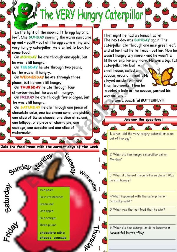 the very hungry caterpillar text # 13