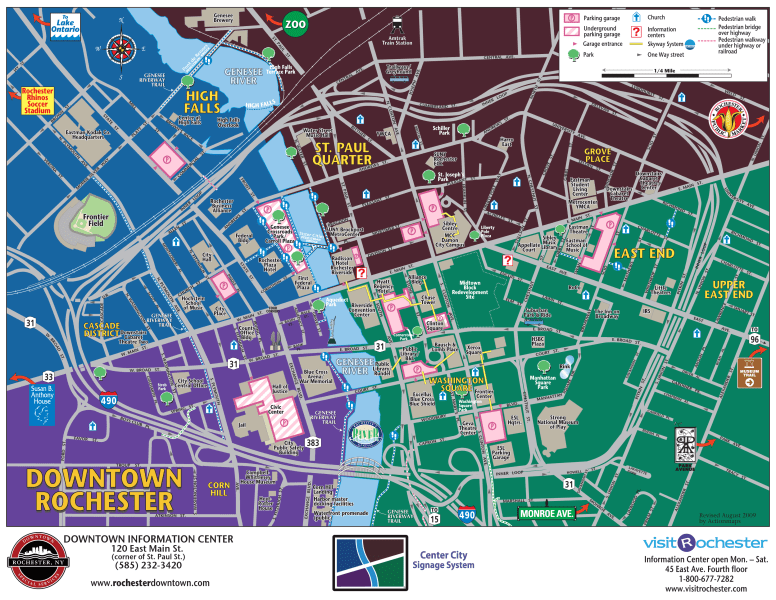 Directions  Parking and Maps   Eastman School of Music Map of Downtown Rochester