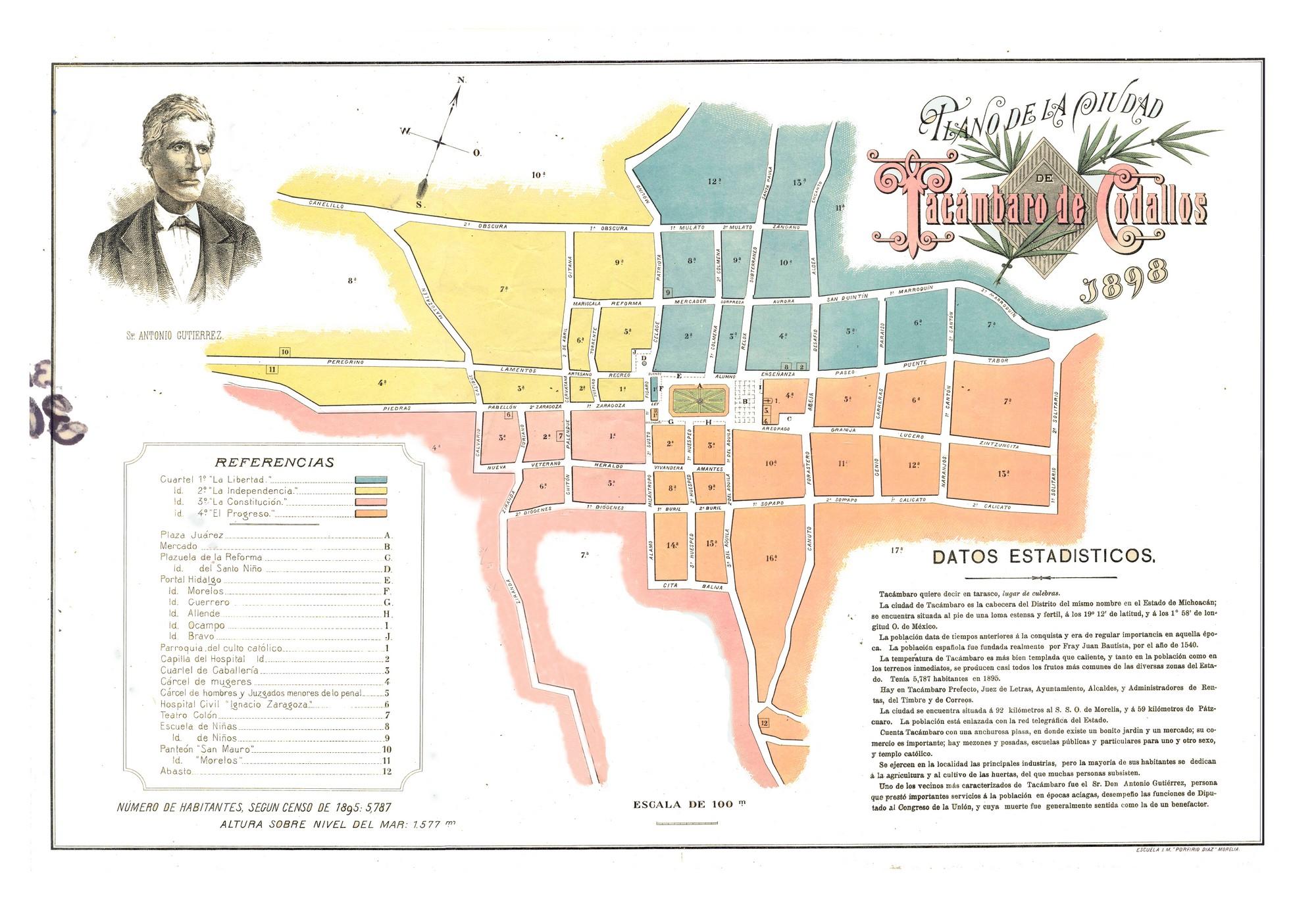 Mapa De Los Reyes Michoacan