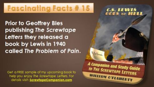 Fascinating Facts About The Screwtape Letters  15   Essential C S  Lewis The Screwtape Letters is one of many great books by C S  Lewis  As the  publication of my book about it draws near I m sharing a fact about it each  day