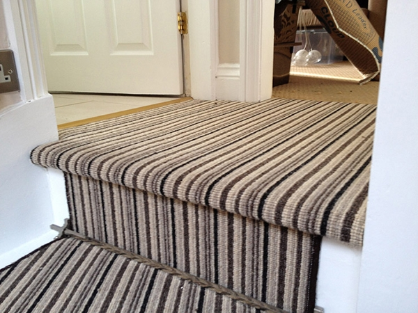 Stripe Carpet To Landing And Stair Large Essex Carpets | Grey Carpet Stairs And Landing | Teal | Open Plan | Pinterest | Commercial | Wall