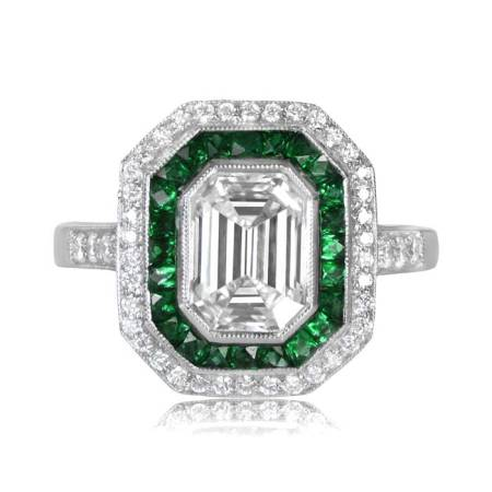 1 72 Carat Emerald Cut Diamond Ring   Estate Diamond Jewelry