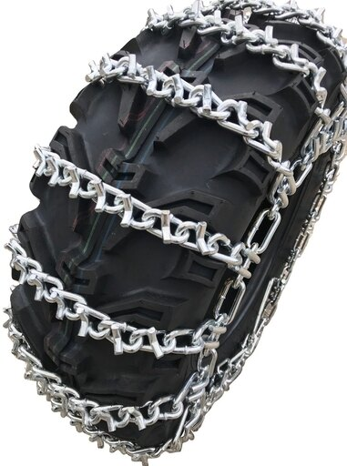 TireChain.com 25 X 8 X 11, 25 8 11 ATV UTV 2 Link V Bar Tire Chains set of 2