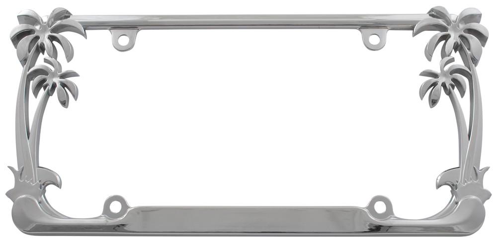 License Plate Frame Palm