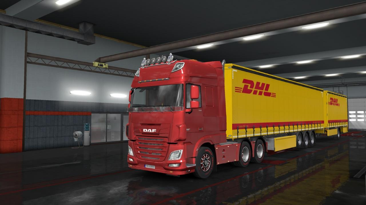 Dhl Trailer Skin Owned Scs Trailer V1 0 Ets2 Euro Truck