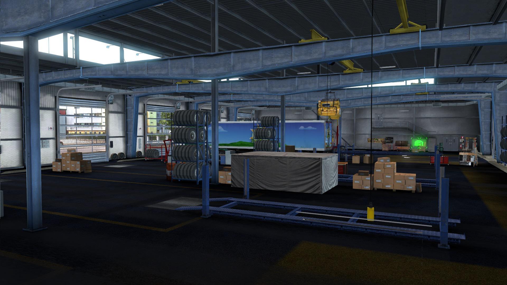 Xpo Logistics Garage 1 35 Mod Euro Truck Simulator 2 Mods