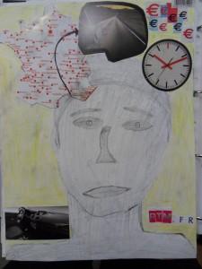 3e Arts Plastiques Autoportrait Collages 233 Critures A