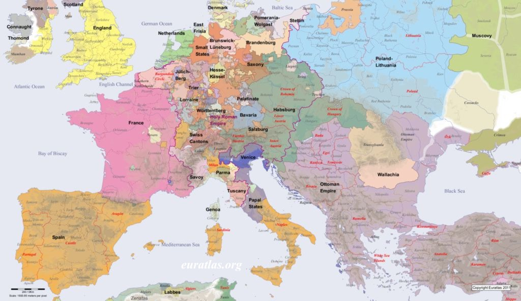 Short History of Europe Europe in AD 1600
