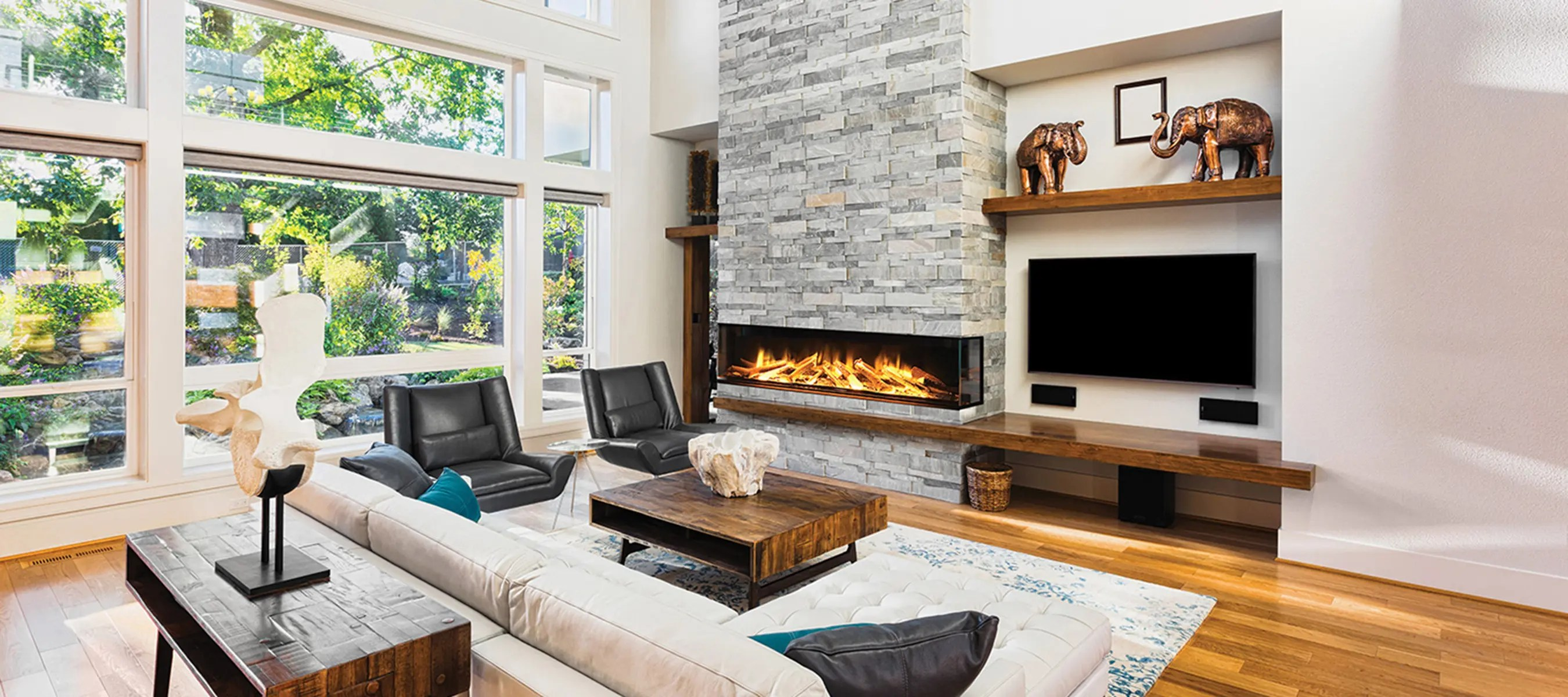 E72 3 Sided Be Electric Modern 3 Sided Electric Fireplace