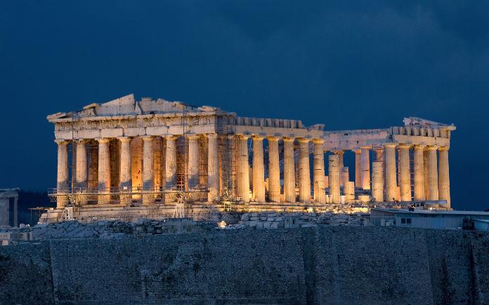 De Akropolis Van Athene Bezoeken Bezienswaardigheden
