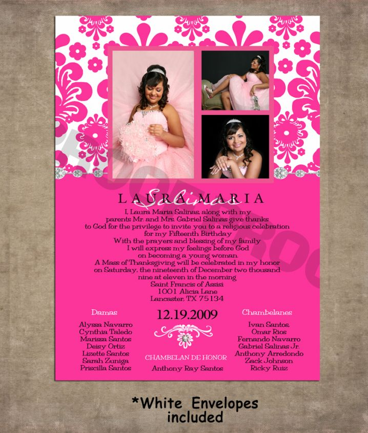 Order Quinceanera Invitations Online