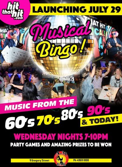 Musical Bingo @ AM Bar | Mackay – EventsontheHorizon.com