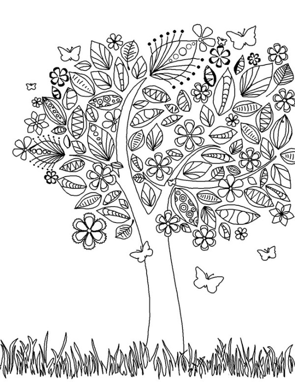trees coloring pages # 75