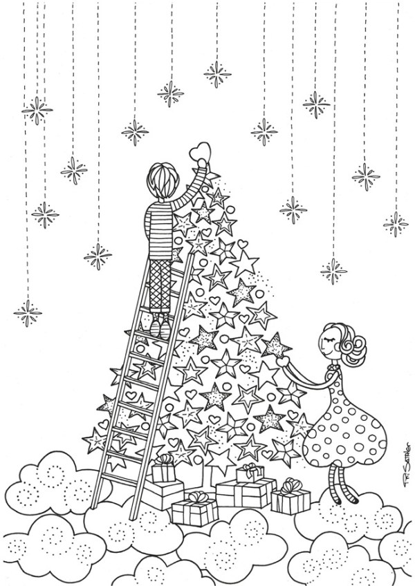 printable holiday coloring pages # 44