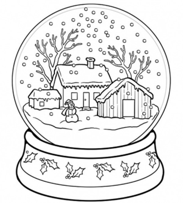 printable holiday coloring pages # 20
