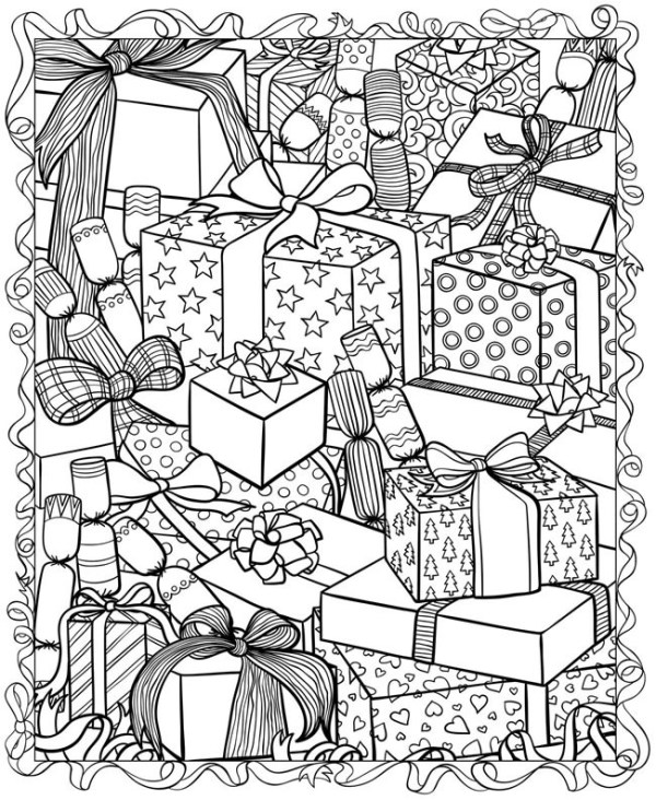 printable holiday coloring pages # 6