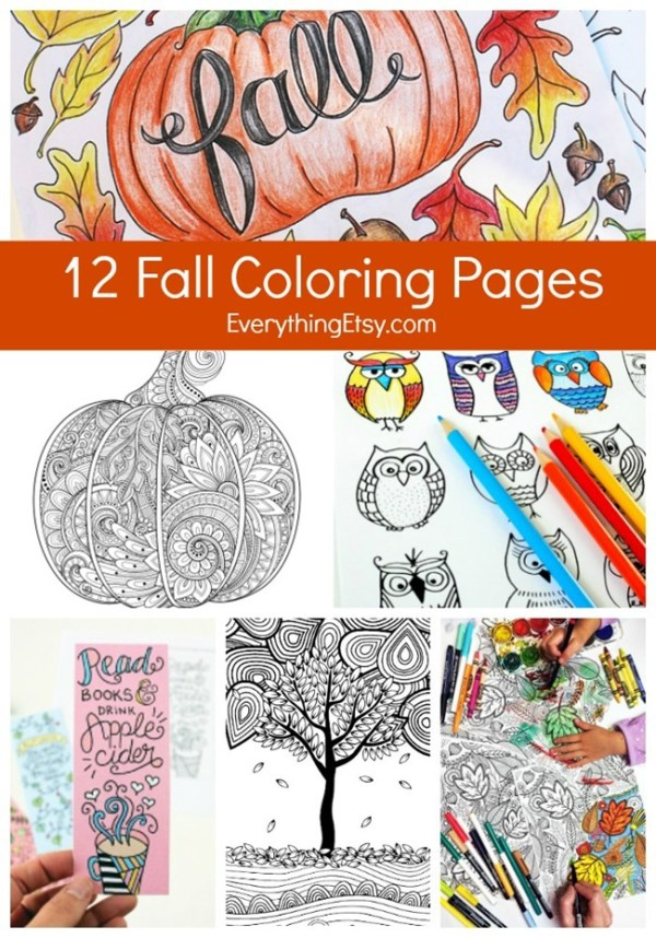 fall coloring pages printable free # 80