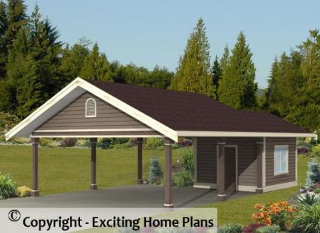 Modern House  Garage   Dream Cottage Blueprints by Exciting Home Plans Glenwood   Garage     Front View of Garage