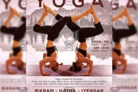 Yoga Flyers   ExclsiveFlyer   Free and Premium PSD Templates Download Exclusive Yoga Classes PSD Flyer Template Now