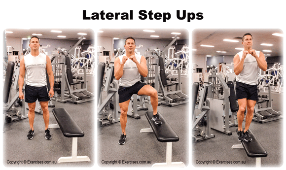Lateral Step Up | Trainer Guided 1:39 Min Demo Video