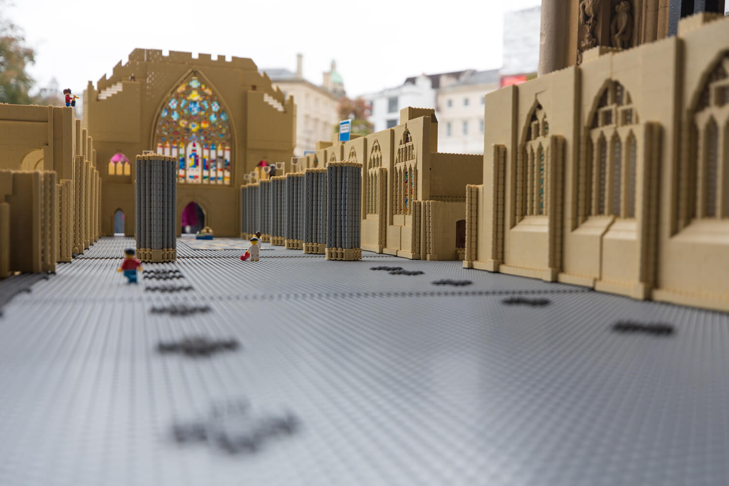 Big LEGO build at Exeter Cathedral     the Cathedral and buildings around its precincts for future  generations  The final model will be an impressive 3 6m long  2m wide and  over 1m high and