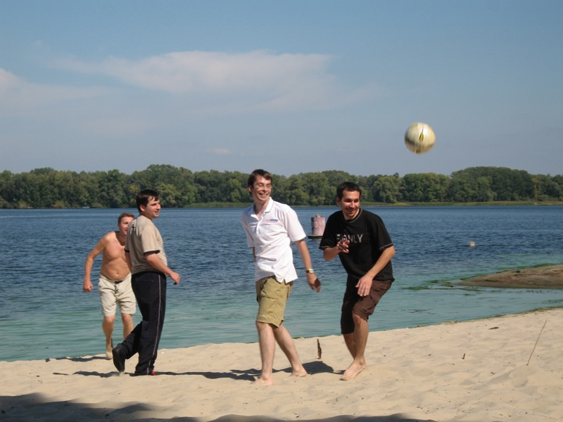 ... and some funny game which looks like beach soccer :)